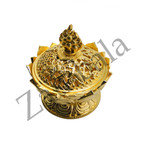 Lotus 8 Auspicious Incense Burner (Small)-Gold