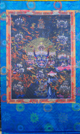 Yamantaka Silk Screen Thangka 3 ft