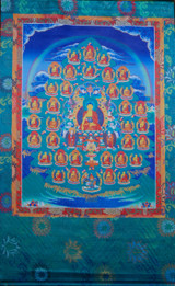 35 Buddhas Silk Screen 3 ft
