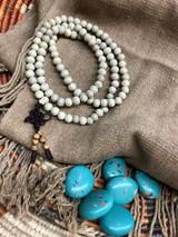 Stars & Moon Bodhi Seed  Mala 108 7-8mm Polished Beads