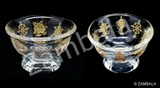 8 Auspicious Symbol Glass Offering Bowl