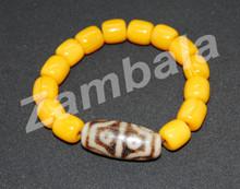 Dzi with Yellow Beads Bracelet