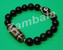 Dzi with Tourma Beads Bracelet