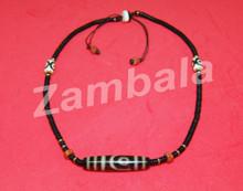 Dzi with Coconut Shell Beads Mala