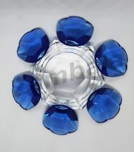 """Crystal 6 Petals Lotus Voltive 5"""" dia"""