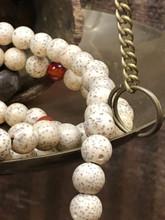 Stars & Moon Bodhi Seed Mala (Polished) 108 7-8mm Beads