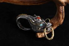 Sterling Silver Dragon Head Key Chain