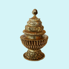 Silver Plated Rice Offering Pot
