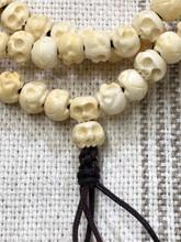 White Skull Bone Mala-7mm