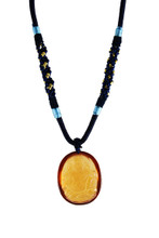 Citrine Yellow Zambala Pendant