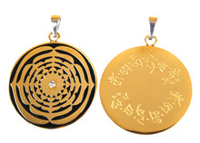 Lotus Mandala  with Amitabha Mantra Pendant