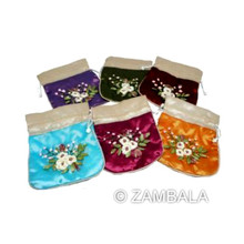 Applique Cosmetic Pouches