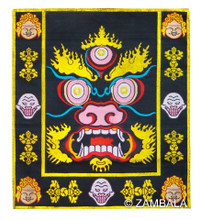 Mahakala Face Table cloth