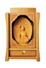 Hand Carved Kshitigarbha Statue for Altar