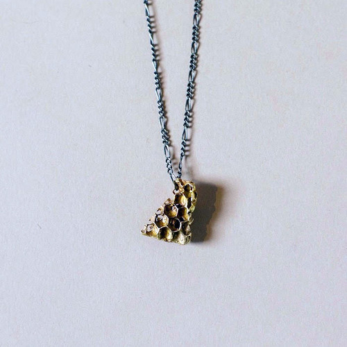 Small Bronze Honeycomb Necklace