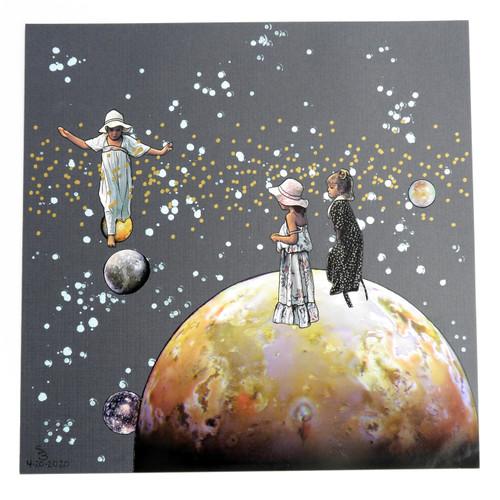 Planet Hopscotch Original Collage