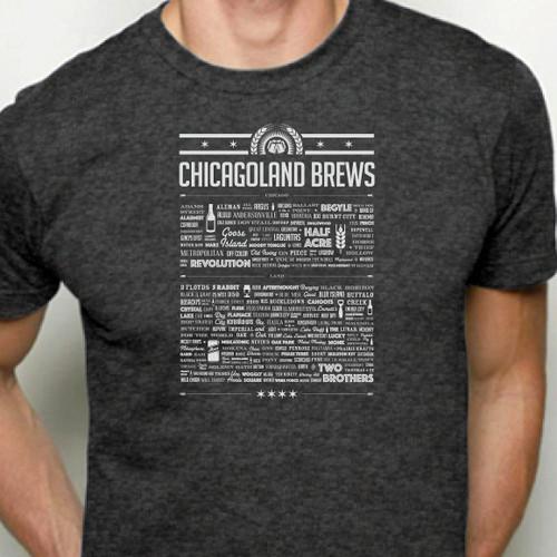 Chicago Brewery List Shirt