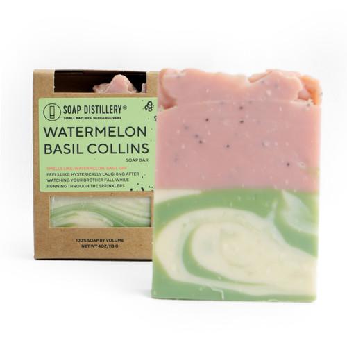 Watermelon Basil Collins Soap Bar