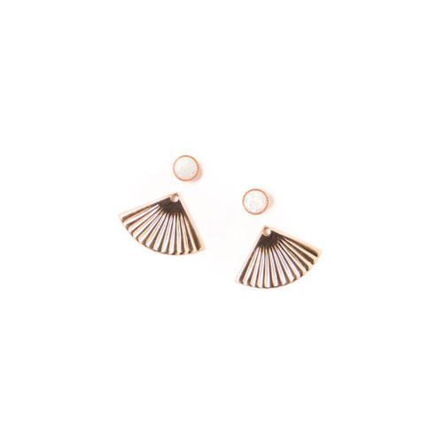 Mini Pleat Jackets with Opal Studs