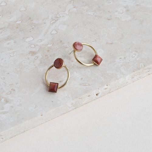 Goldstone Colorblock Earrings