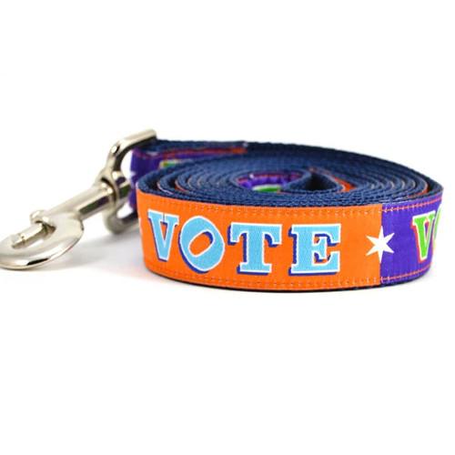 Purple & Orange VOTE! Dog Leash