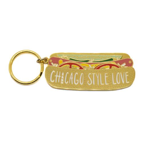 Chicago Style Love Keychain