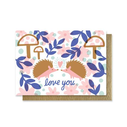 Love you Hedgehog Mini Card