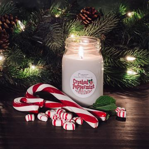 Crushed Peppermint Candle