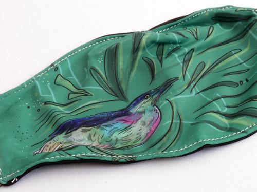Night Heron Fabric Face Mask