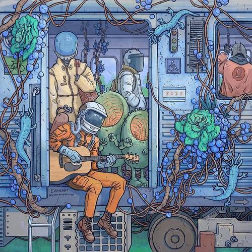 City Train Adventure 8x8 Fine Art Print