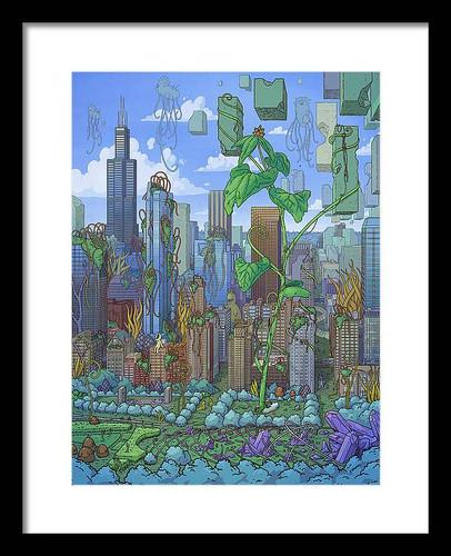 Cloud Gate 12x16 Framed Art Print