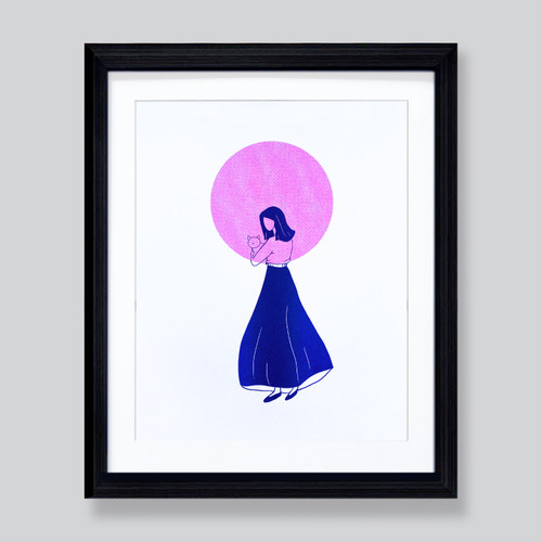 Cat Lady 8x10 Print