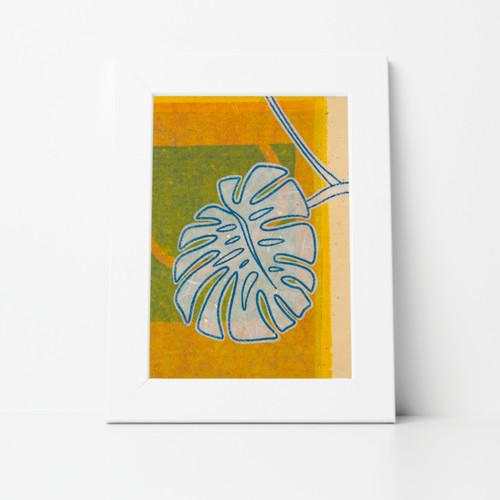 Foliage I Mono Print 8x10 Matted
