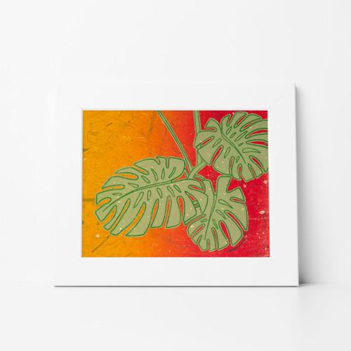 Foliage II Mono Print 11x14 Matted