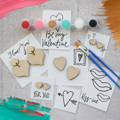 Paint Your Own Earring's - Hearts