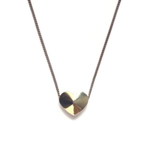 Vintage Heart Slider Necklace