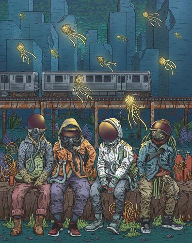 City Lights 12x16 Fine Art Print