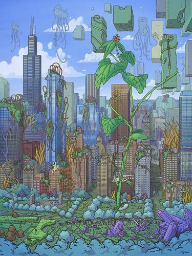 Cloud Gate 12x16 Fine Art Print