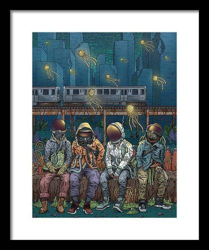 City Lights 12x16 Framed Art Print