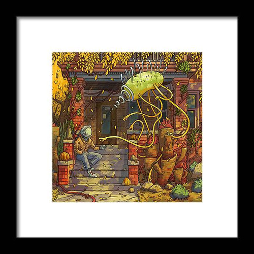 Visitor Framed 8x8 Art Print