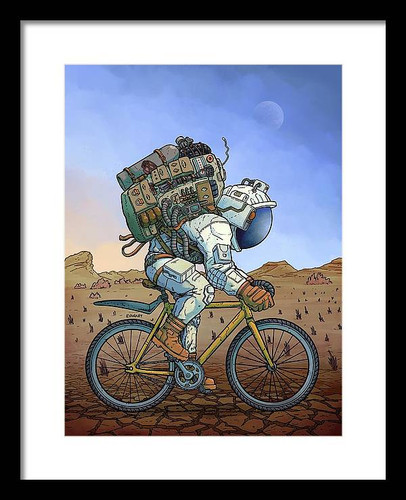 Fixie Framed 12x16 Art Print