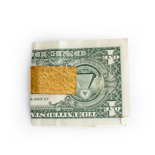 Hammered Metal Money Clip