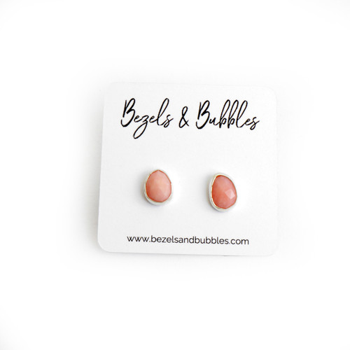 Pink Opal Studs