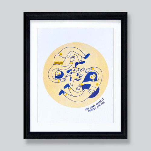 Our Live's Revolve Around Our Dog 8x10 Print