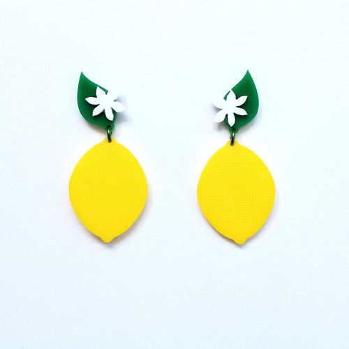 Acrylic Lemon Earrings