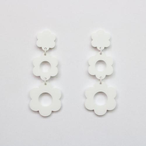 Acrylic Cascading Daisy Earrings