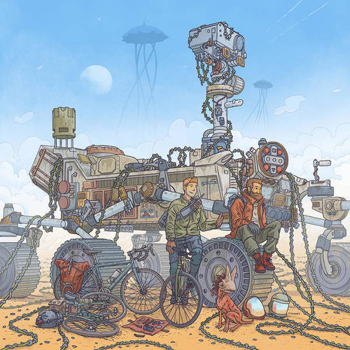 Rover Ruins Ride 8x8 Fine Art Print