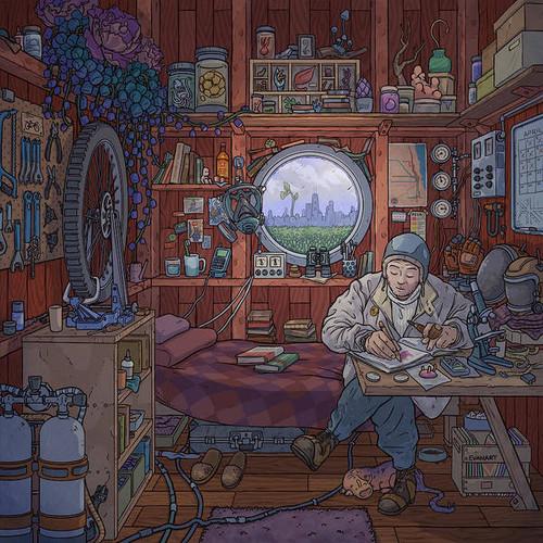 The Naturalist's Cabin 8x8 Fine Art Print