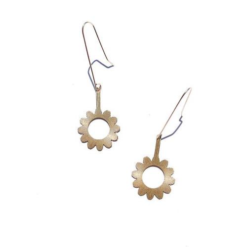 Starburst Flower Drop Earrings