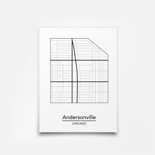 Andersonville Map 5x7